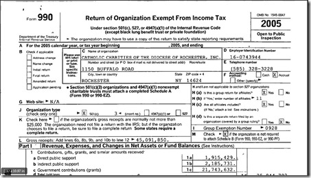CC 2005 IRS Form 990 - CCR1