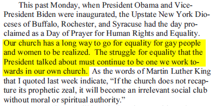 spilly on gays and women in church