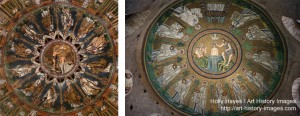 Left: Orthodox Baptistery; Right: Arian Baptistery