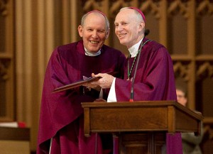 "Bishops Clark and Hubbard receive the ""John Cardinal O'Connor Award"""