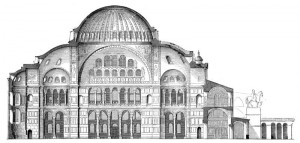 """""""Church of the Holy Wisdom"""" (""""Hagia Sophia""""), built by the Emperor Justinian I, 6th century."""