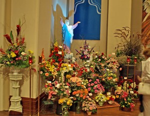 The parish had its annual Flower Festival on the weekend of the Feast of the Assumption