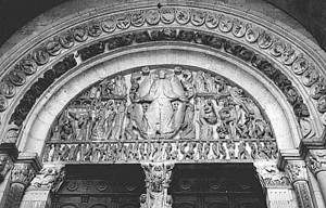 "Oftentimes, the entry doors to churches announce to visitors that they are about to enter heaven. In the medieval period it was also made clear by the ""Last Judgment"" scene over the entrance that one had better prepare for when they would actually stand before the gates and seek admittance."