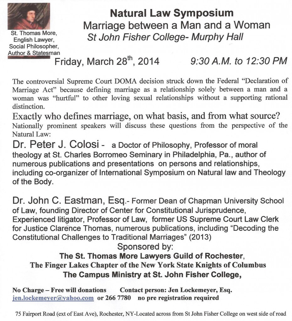 Natural Law Symposium 3-29-14 sjf