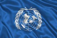 Flying a flag upside down is the international symbol of distress.  If there were ever an organization in distress, it seems to be the UN.
