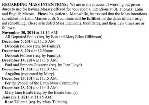14-11-16 TLM bulletin p3 Mass Intentions excerpts